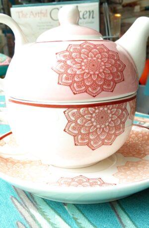 Tea Set - Mandala pattern