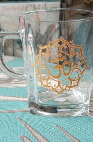 Glass Tea Cup - Gold OM