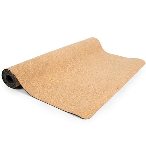 Natural cork and rubber yoga mat